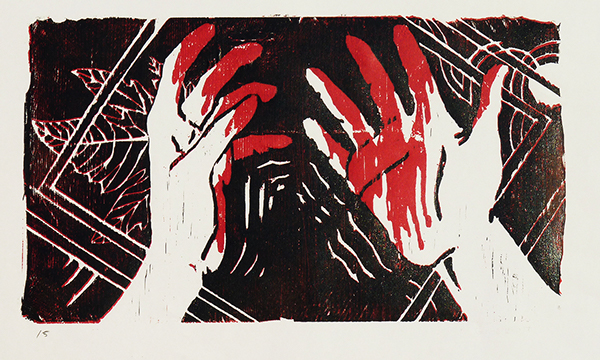 Cain's hands – woodcut